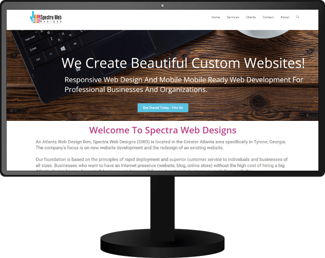 Image of current Spectra Web Designs-website