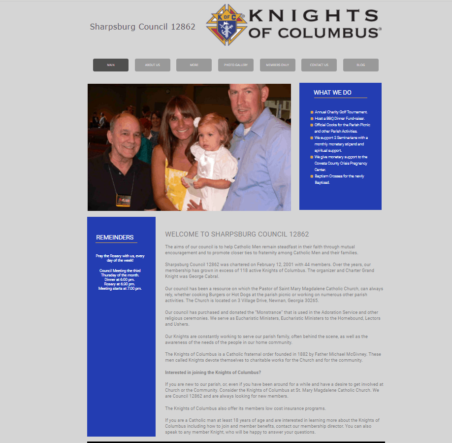 Image of Knights of Columbus Council 12862 Website