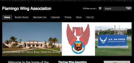 Flamingo Wing Association Old Home Page