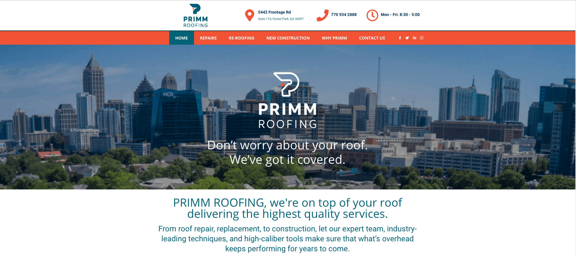Primm Roofing New Home Page