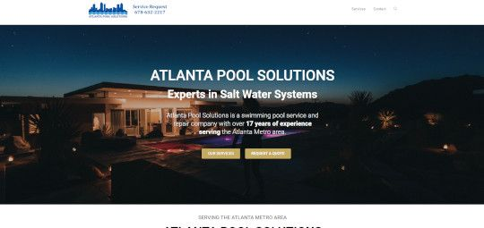 Atlanta Pool Solutions Old Home Page