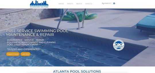 Atlanta Pool Solutions New Home Page