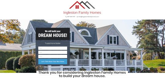 Ingleston Family Homes Home Page