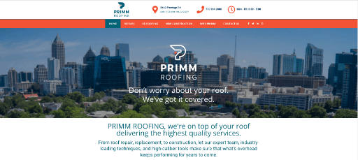 Image of Primm Roofing New Home Page