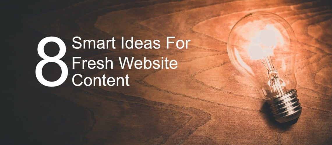 Light Bulb and text 8 Smart Ideas for fresh website content